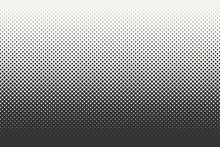 Vector Halftone Dots Background. Black And White Comic Pattern.