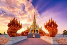 Saen Suk / Chon Buri District / Chon Buri / Thailand / November 17, 2019 : Wat Saensuk Suthi Wararam.Learning Sources, Gathering Beliefs According To Buddhism.