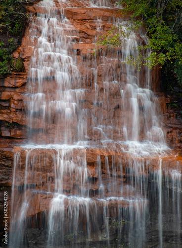 waterfall cascade close up