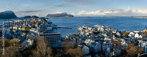 Foto op Canvas Noord Europa Alesund in Norwegen