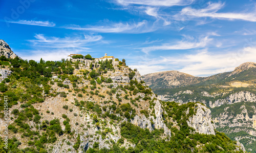 View of Gourdon, a small medieval village in Provence, France #303258471
