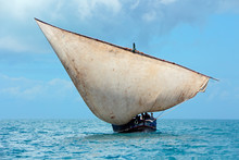 Wooden Sailboat (dhow) On The ...