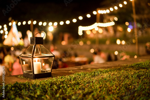 Spoed Foto op Canvas Tuin Wedding Ceremony with flowers outside in the garden