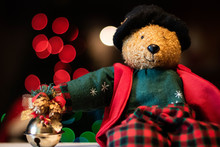 Teddy Bear At Christmas With L...
