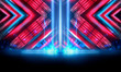 canvas print picture - Background of empty show scene. Empty dark modern abstract neon background. Glow of neon lights on an empty stage, diodes, rays and lines. Lights of the night city.