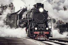 Steam Train Departs From Riga ...