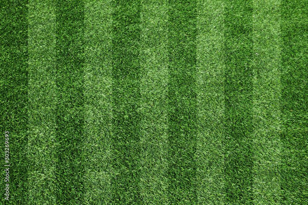サッカーのグラウンド、芝、芝目