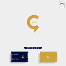Letter C Chat Talk Logo Templa...