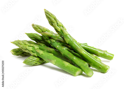 Effective Boiled asparagus on white background Fototapet