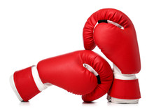 Pair Of Boxing Gloves On White Background
