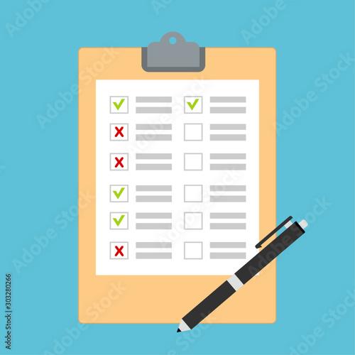 Cuadros en Lienzo  Hand filling checklist on To Do List