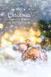 canvas print picture Merry Christmas and Happy New Year, Holidays greeting card background. Selective focus.