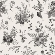 Seamless Pattern. Autumn Flora...