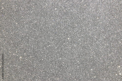 abstract background of glitter vintage lights . silver. de-focused - 303284841