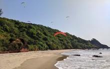 Paragliding On A Beach In Goa