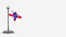 East Anglia 3D Waving Flag Ill...