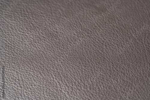 Obraz Closeup shot of full garin dark brown full grain leather - fototapety do salonu