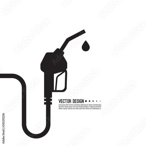 Gasoline pump nozzle sign Tableau sur Toile