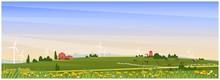 Panoramic Vector Illustration ...