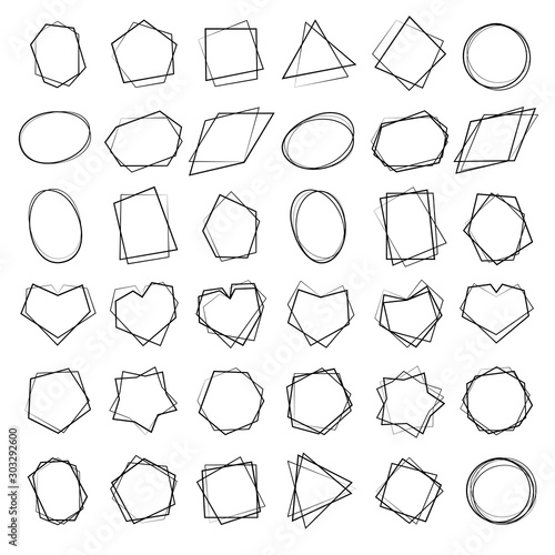 Collection of geometric frames  #303292600