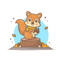 Happy Cute Squirrel Character ...