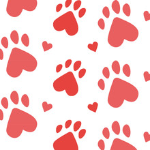 Paws Pattern. I Love Animals, ...