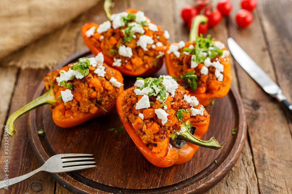Fototapety, obrazy: stuffed peppers with meat