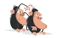 Funny Cartoon Apes Doing Body ...