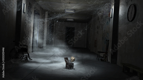 Photo Hall in abandoned hospital