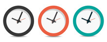 Flat Long Shadow Clock Icon Is...