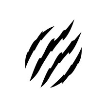 Claws Scratches Icon, Logo Iso...