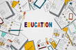 Education and marketing concept