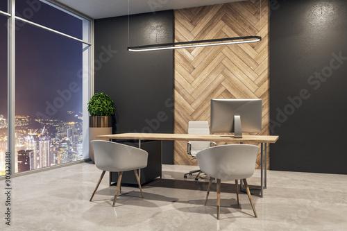 Fototapeta Clean office interior obraz na płótnie