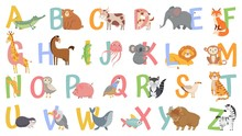 Cartoon Animals Alphabet For K...