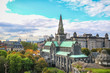 canvas print picture - View over Glasgow Cathedral
