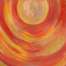 Portal. Red Orange Pastel Draw...