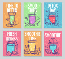 Smoothie Flyers. Colorful Smoo...