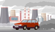 Car Air Pollution. Co2 Emissio...