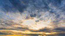 Cloudy Morning Sky Nature Background