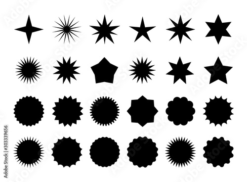 Photo Star burst sticker set