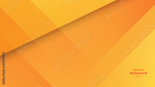 Warm tone and Orange color background abstract art vector Fototapeta