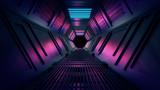 Fototapeta Perspektywa 3d - Abstract 3d Tunnel Hole Render