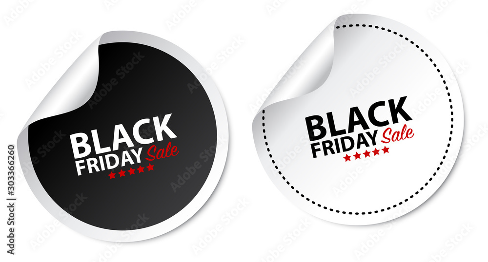 Fototapeta Black Friday Stickers