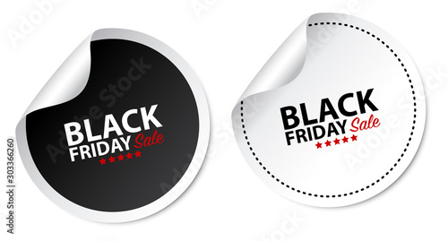 Stampa su Tela Black Friday Stickers