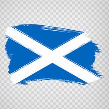 Flag Scotland From Brush Strok...
