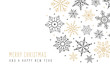 Christmas snowflakes elements ornaments greeting card on isolated white background