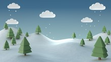 3d Render Christmas Image Of S...