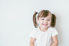 Portrait Of Smiling Baby Girl ...