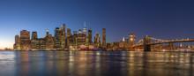 New York City Downtown Evening Skyline Buildings