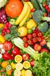 Fruits and vegetables background food collection pattern portrait format apples oranges fruit vegetable